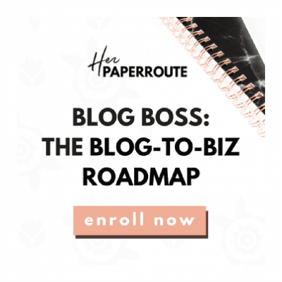 Profitable blog course Her Paper Route