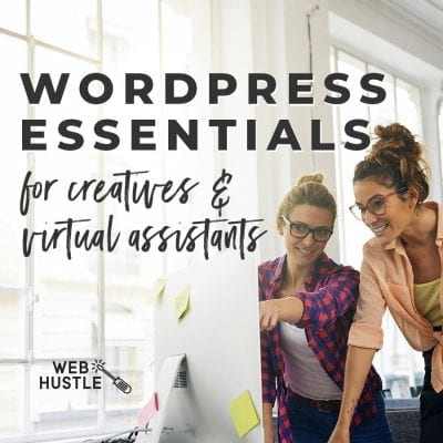 Wordpress web designers and virtual assistants by Web Hustle
