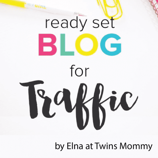 Ready Set Blog by Elna at Twins Mommy. Learn to grow your blog traffic with this ecourse