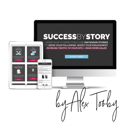 Success by Story with Alex Tooby is an online Instagram course, specialising in Instagram stories