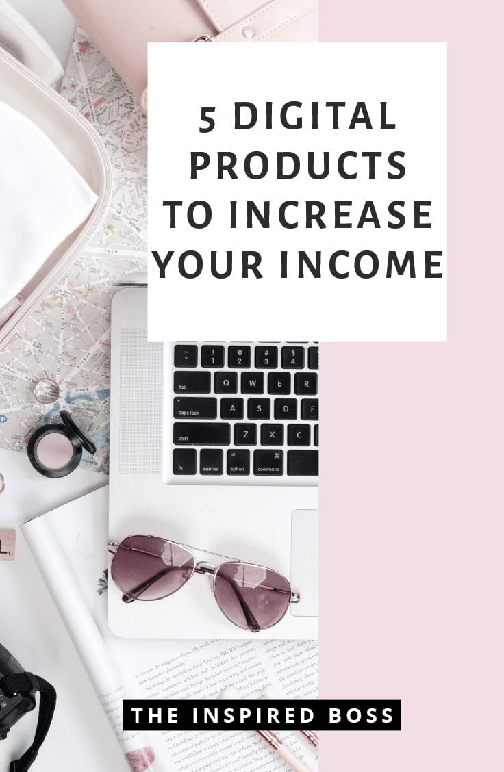 5 digital products to sell within your business. Increase your revenue streams with digital products. Here are 5 ideas to get your started