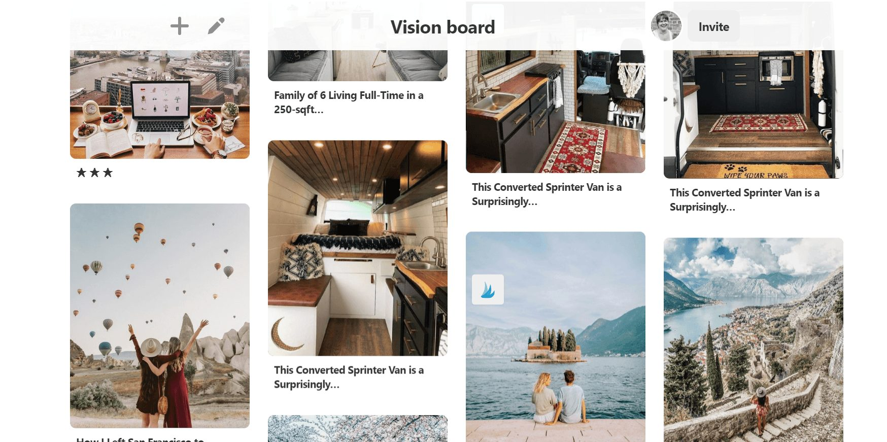 Vision board online. How to create a secret Pinterest board