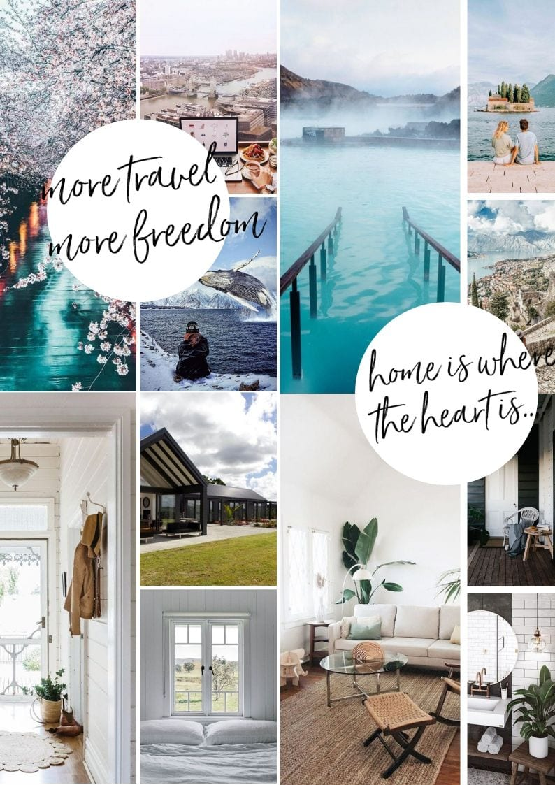 HOw to create a vision board online. This is my final vision board