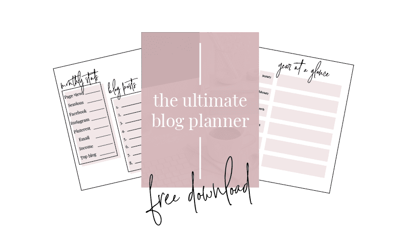 the free blog planner