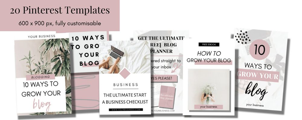 20 Pinterest templates for Canva. Make fresh pin creation easy with these Pinterest templates