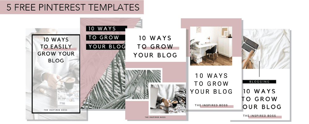 5 Free Pinterest Templates for Canva