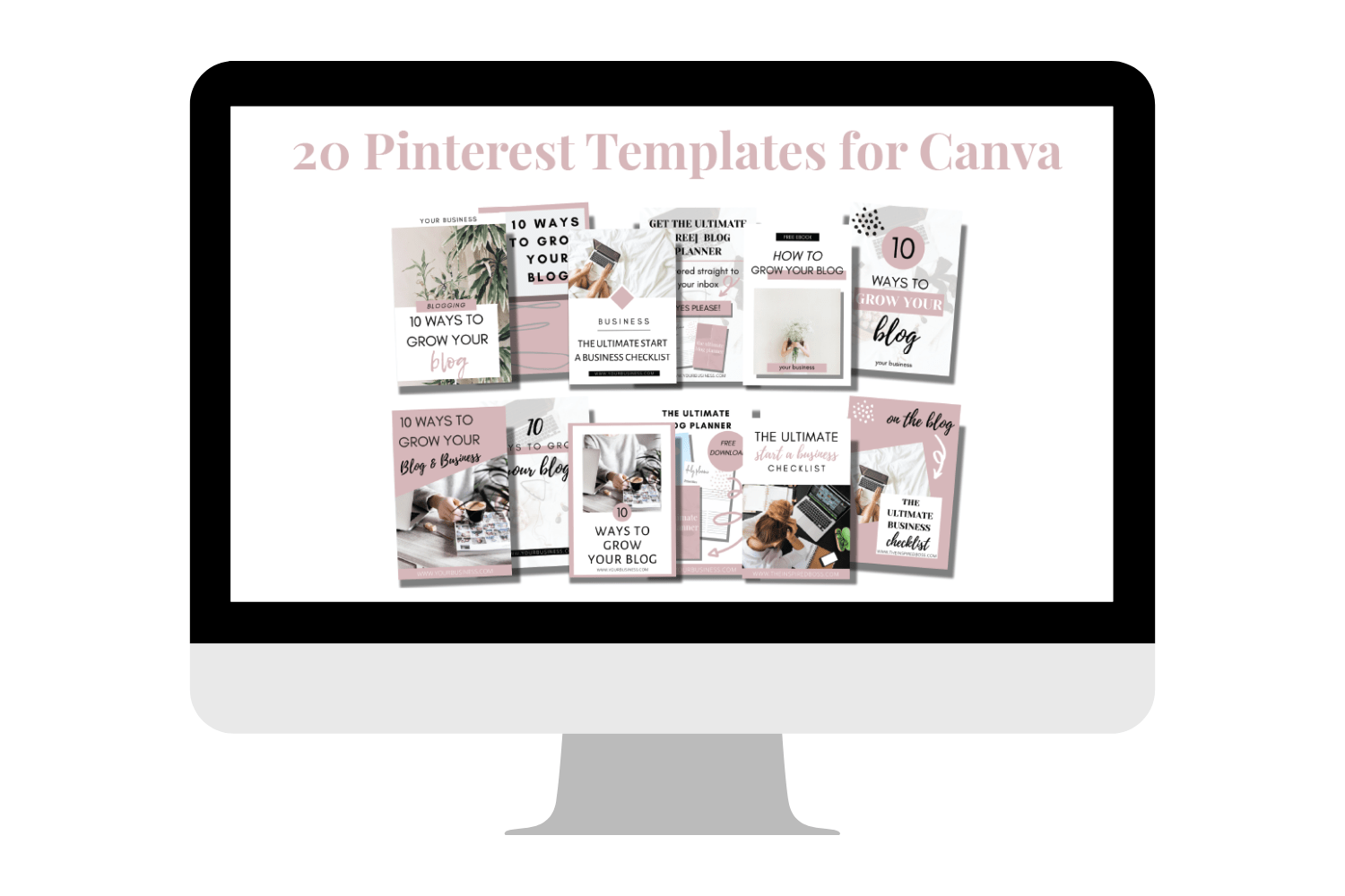 20 Pinterest templates for Canva