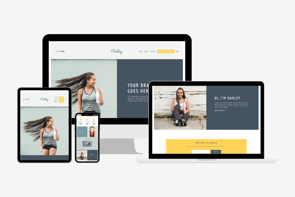 Templates for squarespace - WellnessSite Shop
